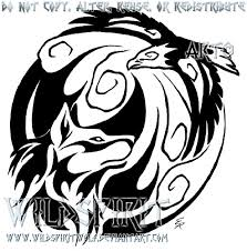 fire meets wind tribal design by wildspiritwolf on deviantart
