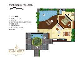 Villa Floor Plan by 1 Bedroom Pool Villa Kanishka Villas