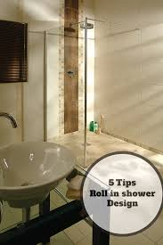 5 design tips for a roll in shower for an elderly parent showers