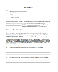 eviction notice template 11 sample eviction notice for