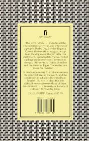 notes toward the definition of culture t s eliot 9780571063130