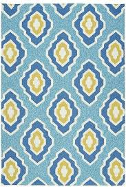 Teal Outdoor Rug And Yellow Quatrefoil Outdoor Rug