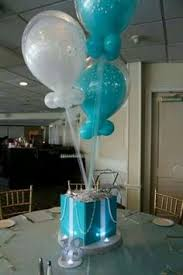 personalized sweet 16 star centerpiece mint green tiffany blue