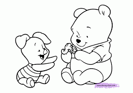coloring pages of baby winnie the pooh and friends murderthestout
