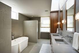 Concrete Floor Bathroom - contemporary master bathroom with concrete counters by steve