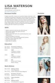 Sample Artist Resume by Makeup Artist Resume Example Make Up Artist Portfolio Samples
