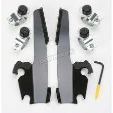 memphis shades black trigger lock mount kit for batwing and fat