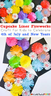 cupcake liner fireworks craft for kids make colorful fireworks