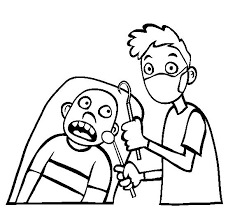 dentist tools coloring pages clipart panda free clipart images