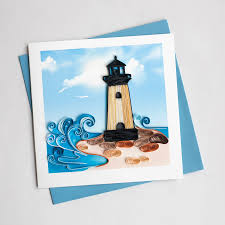 lighthouse bl1013 quilling card