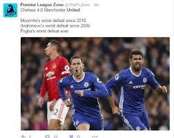 Funny Man Utd Memes - twitter set ablaze after chelsea trashed man u 4 0 at stamford
