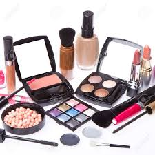 Makeup Set makeup set isolated on white background stock photo picture and