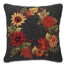 decorative pillows wool hook pillow home decor sturbridge