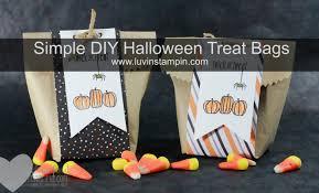 simple diy halloween treat bag luvin stampin