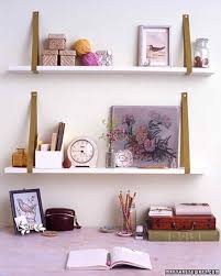 Build Wall Shelves Without Brackets by Ribbon Bracket Shelves Martha Stewart