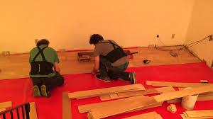 Youtube Installing Laminate Flooring Millstead Click Lock Hardwood Flooring Install Timelapse Youtube