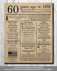 birthday gifts 60 year 60 things we about you milestone birthdays and