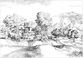 for adults landscapes coloring pages for adults justcolor