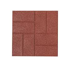 Paving Slabs Lowes by Shop Rubberific Red Paver Common 16 In X 16 In Actual 16 In X