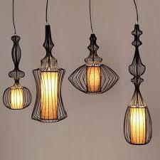 Iron Pendant Light Oak Pendant Lamp Ebarza Furniture Lightings Rugs And Decor