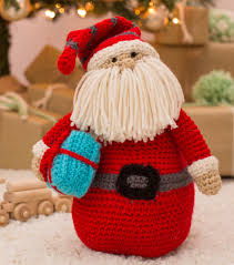 free crochet pattern huggable santa pillow http www joann