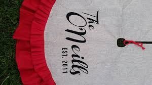personalized tree skirt signature christmas tree skirt the details