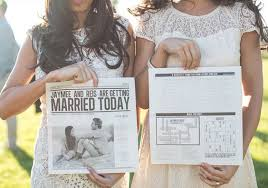 newspaper wedding programs and activities that will keep your wedding guests