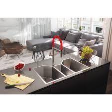 Triple Bowl Kitchen Sinks by Ruvati Rvh8500 Undermount 16 Gauge 35 U2033 Kitchen Sink Triple Bowl