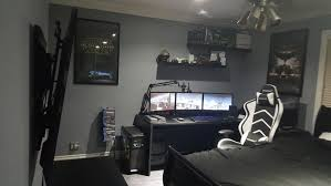 Gamer Computer Desk Furniture Along With New Look My Ultimate Gaming Spectacular