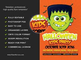 Toon Halloween Kids Party Flyer Template Flyerheroes