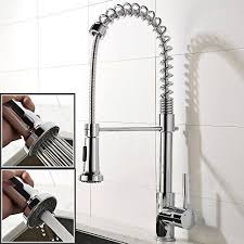 upscale kitchen faucets shaco upscale chrome stainless steel spiral single handle pre