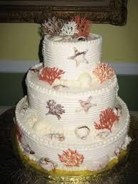 coral wedding cakes sea shell and coral wedding cake cakecentral