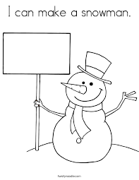 i can make a snowman coloring page twisty noodle