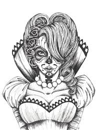 cool coloring pages for girls day of the dead coloring pages vicky day of the dead