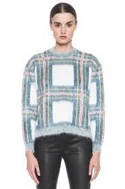 plaid sweater stella mccartney cropped plaid sweater in white tartan fwrd