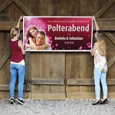geschenke polterabend polterabendplakat mit freigestelltem foto und namen sowie datum