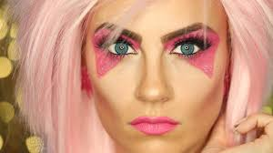 how to do halloween makeup jem and the holograms halloween makeup tutorial youtube