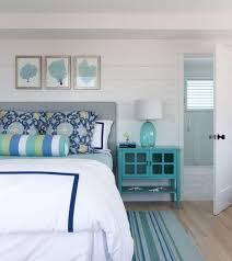 nautical bedroom with blue bedside table choosing the right