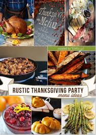 a rustic thanksgiving menu with a hearty and homestyle spin