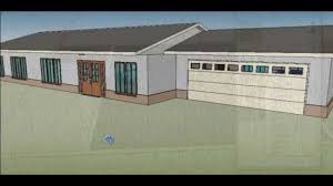 sketchup 8 making a ranch style house youtube