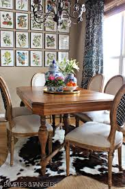 Kitchen Table Rugs Dimples And Tangles My Thoughts On Cowhide Rugs