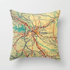 South Carolina travel pillows images 77 best map decor images custom map throw pillow jpg