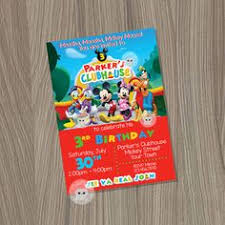 mickey mouse clubhouse invitation summer invitation mickey