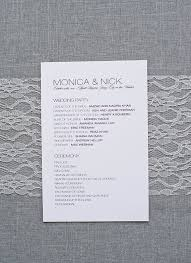 modern wedding programs best 25 modern wedding program ideas on wedding