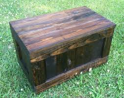 Homemade Wood Toy Chest by Rustic Reclaimed Trunk Reclaimed Rustic Toy Box By Senovadesigns