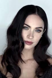i absolutely love her natural makeup looks and her dark hair dark ash brown hairdark hair pale skindark brown eyesmegan