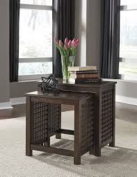 Ashley Furniture T885 16 Roxenton Brown Casual Nesting End Table Set