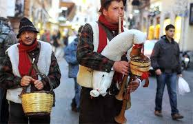 sounds of the zampognari at christmas
