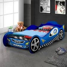 Blue Car Bed Single Mattress Red Blue Car F1 Racing Bed Kids Toddler Boys