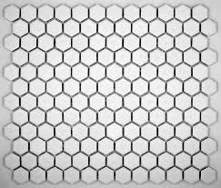 hexagon white porcelain mosaic tile matte look 1x1 inch ceramic